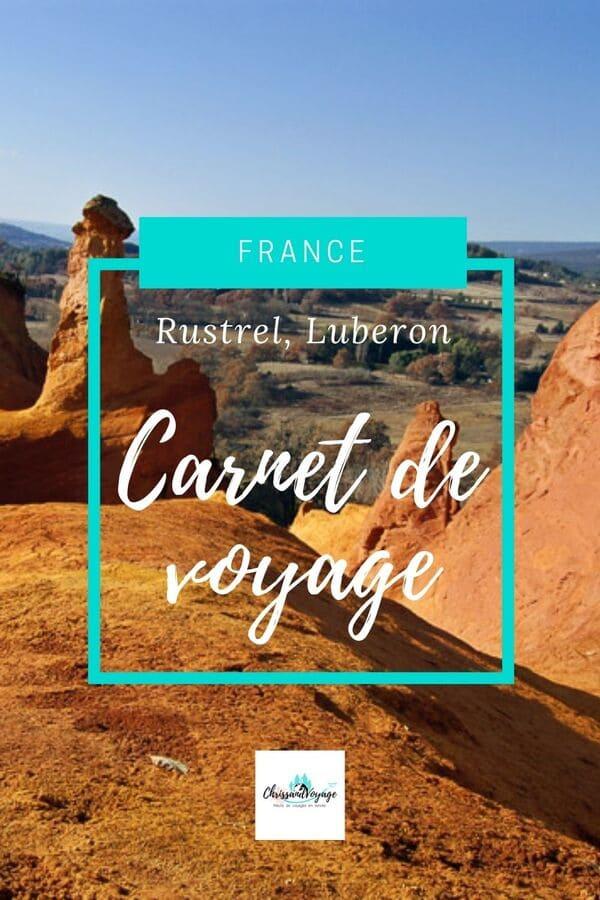 carnet de voyage Rustrel