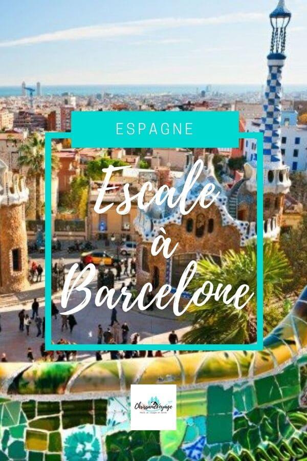 Visite de Barcelone lors d'une escale