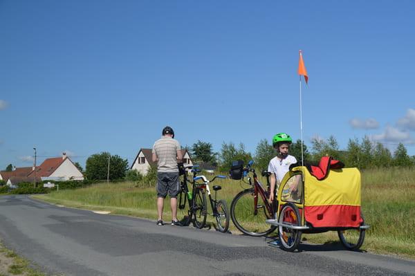 Faire du vélo avec des enfants dans le loir et cher