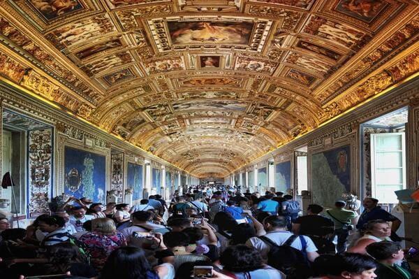 Nombre de touristes Vatican