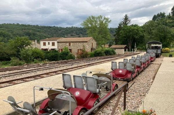 Activité vélorail Ardèche