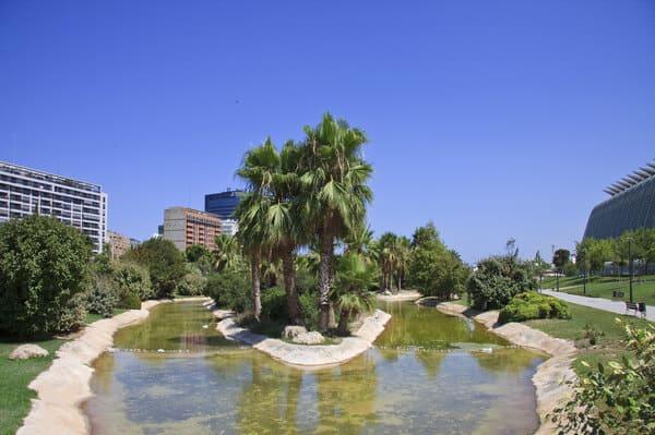 Visite des jardins de la Turia