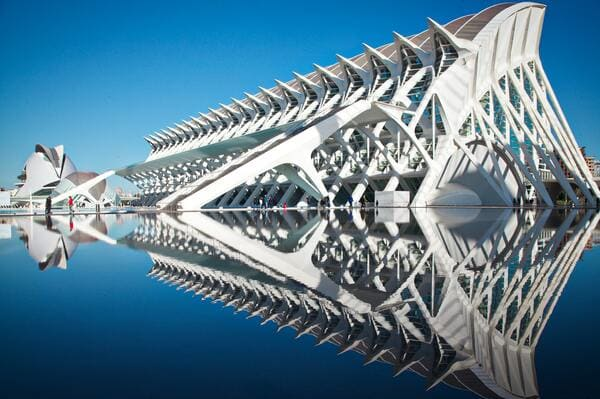 Architecture du musée des sciences de Valencia